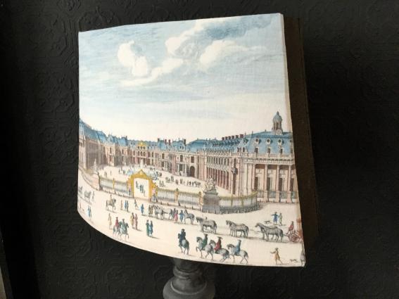 Abat jour pans coupés Versailles XVIIe