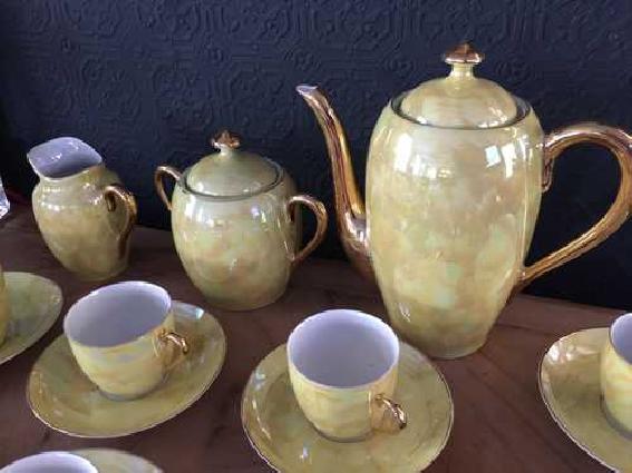 Service à café vintage années 50 porcelaine fine