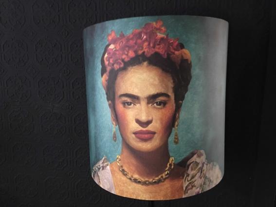Grand abat jour demi lune portrait Frida Kahlo