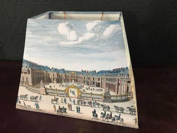 abat jour pyramide rectangle gravure Versailles