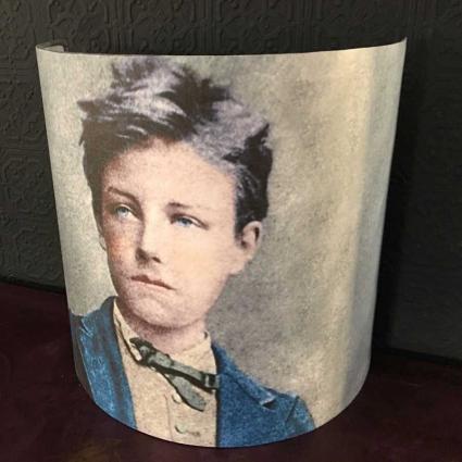 Grand abat jour demi lune portrait Arthur Rimbaud