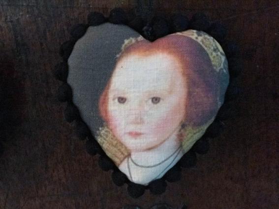 Coeur a suspendre fillette XVIIIe