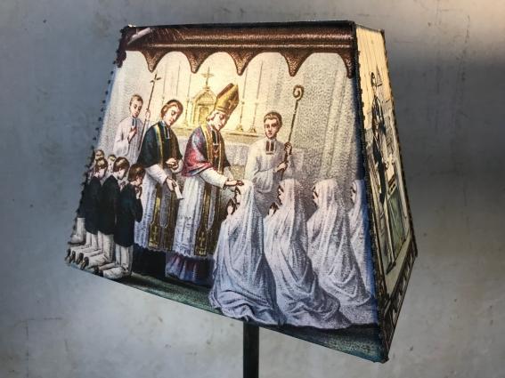 """Abat jour pyramide rectangle """"communion"""""""
