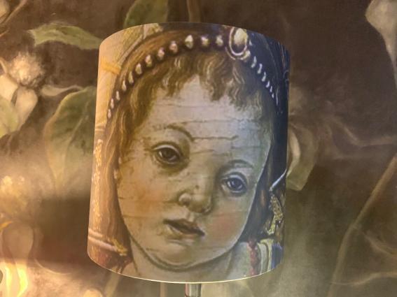 """Abat jour """"morceau d'un tableau de Carlo Crivelli"""""""
